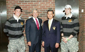 Two future Field Artillerymen with Joe DeFrancisco and Ric Shinseki