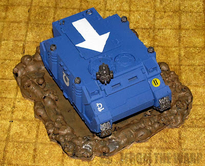 warhammer 40k vehicle crater from glue
