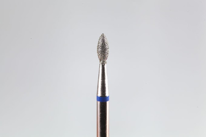 """Фреза алмазная """"Слива"""" синяя 2,1мм"""