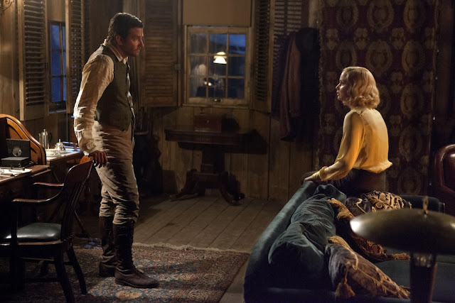 Bradley Cooper as George Pemberton and Jennifer Lawrence as Serena in Serena