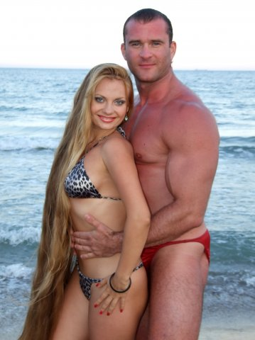 Alla Perkova Rapunzel long hair beauty bodybuilder