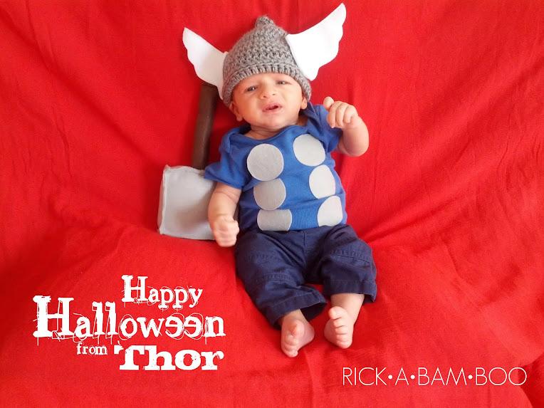 Baby Thor, Crochet Hat Helmet