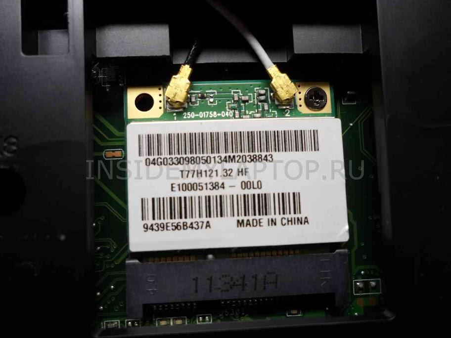 Замена модуля Wi-Fi в ноутбуке Asus X54HY-SX033D