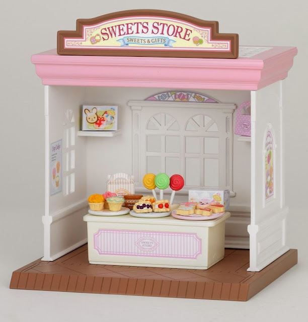Cửa hàng bánh ngọt Sweets Store Sylvanian với tông màu trắng hồng xinh xắn như màu sắc của bánh
