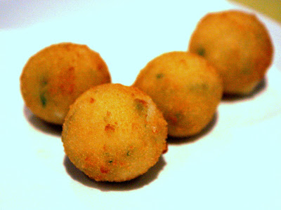 Salt Cod Balls at Kitchen W8