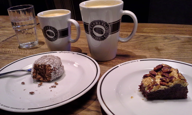 Oslo Espresso House treats and coffees