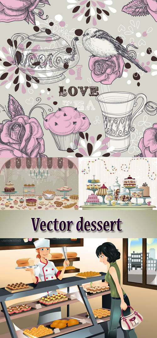 Stock: Vector dessert