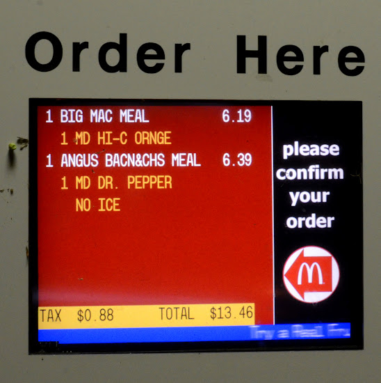 Order at the drive thru