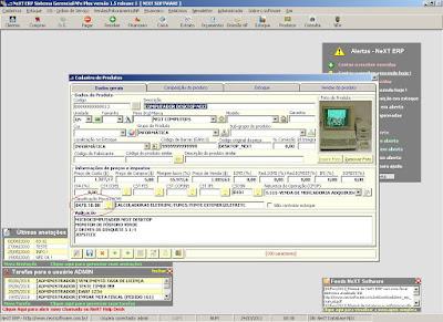 NeXT ERP NFe 2.0 segunda geração parametrização NCM Classificação Fiscal