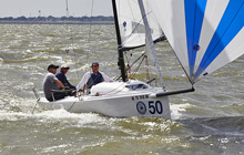 J/70 one-design speedster- sailing downwind in Houston
