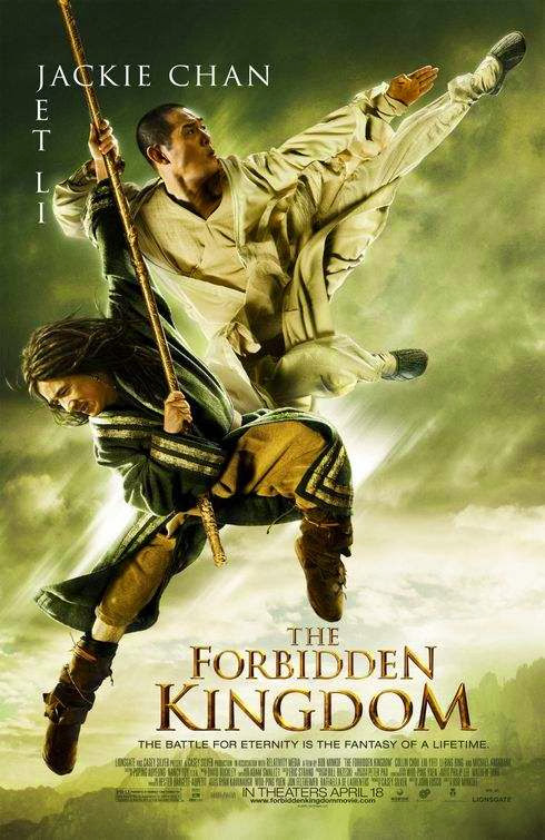 Poster Of The Forbidden Kingdom (2008) Full Movie Hindi Dubbed Free Download Watch Online At Alldownloads4u.Com