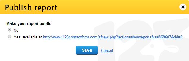 publish form report