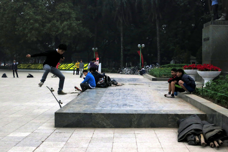 Skateboarders at Lenin Park