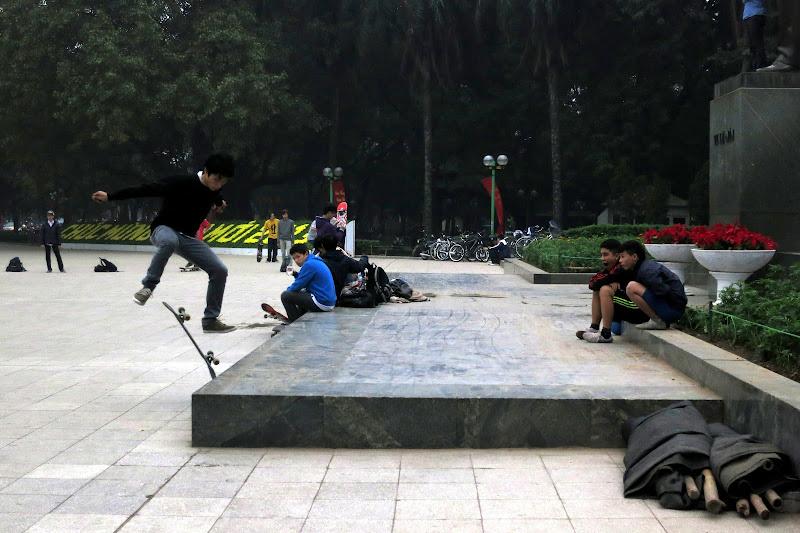 Skateboarders at Lenin Park