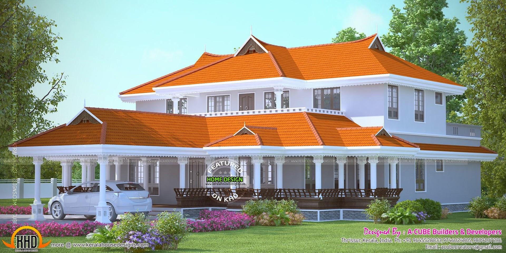 4 bedroom luxury villa plan kerala home design and floor for 4 bedroom villa designs