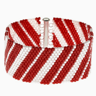 Candy Cane Cuff by Beadaholique