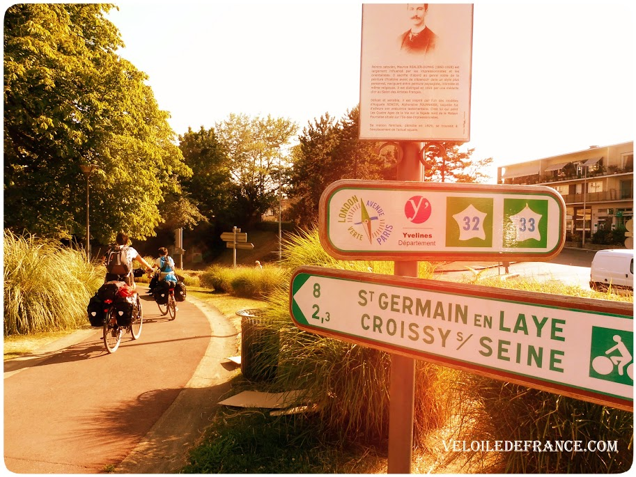 L'itinéraire du Paris-Londres à Chatou, en Ile de France - Paris Londres à vélo par veloiledefrance.com