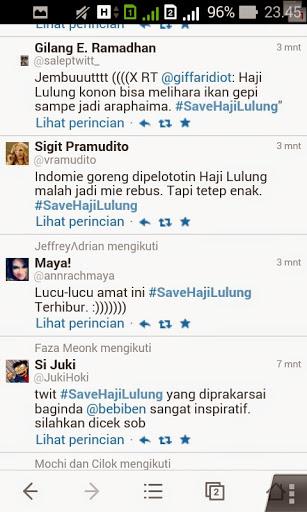 Tweet kocak : haji Lulung bisa melihara ikan gei sampe jadi araphaima