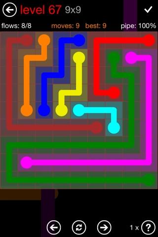 Flow Free 9x9 Mania Level 67 çözümü Flow Free Hints