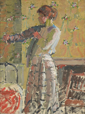 Harold Gilman - Girl dressing