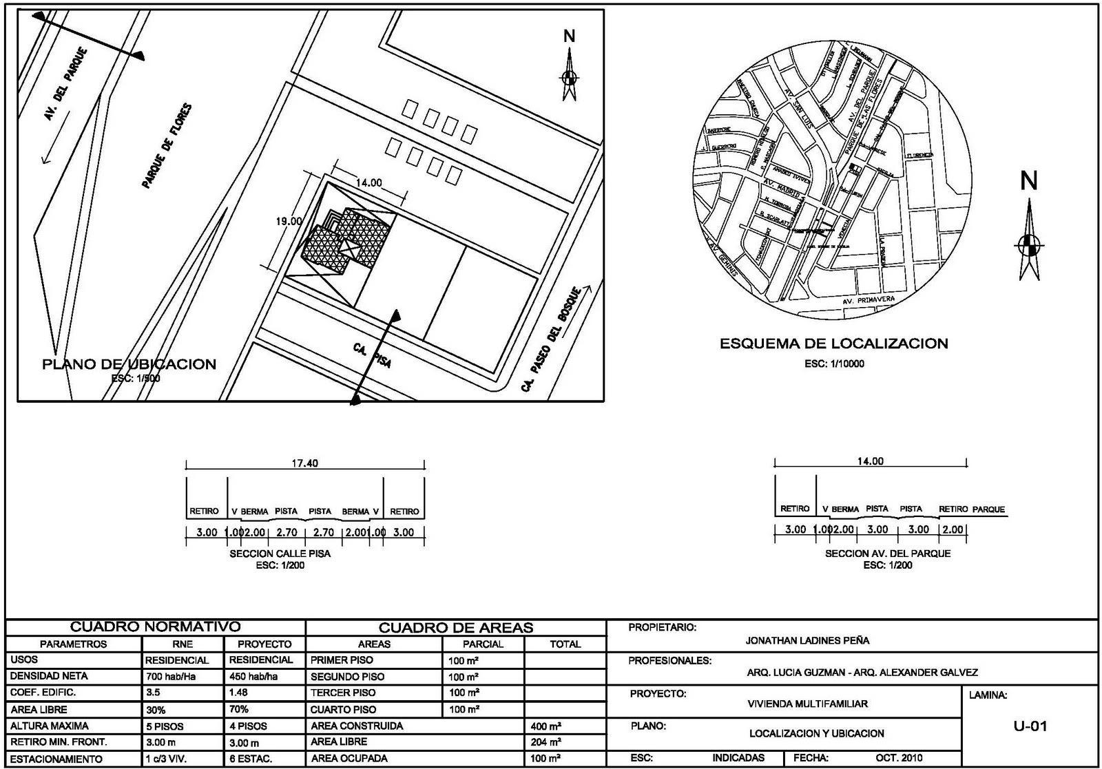 Localización De Una Casa En El Mapa: Expresión Arquitectónica 4: PLANOS DE HABILITACION URBANA