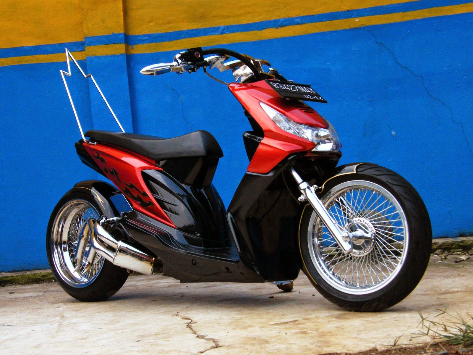 Modifikasi Motor Honda Beat Tahun