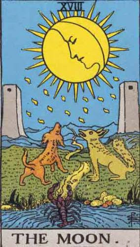 Tarot Card Meaning For The Moon Rws And Thoth