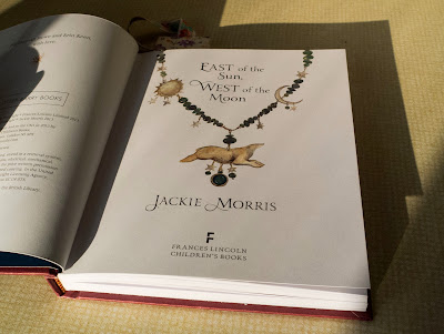 East of the Sun, West of the Moon by Jackie Morris - title page with bear necklace illustration