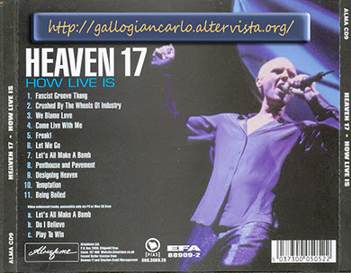 "HEAVEN 17  ""How Live Is"" Cd musica Electronic New-Wave Synthpop"