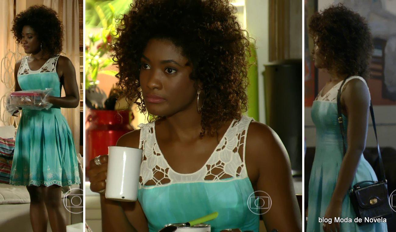 moda da novela Em Família - look da Alice dia 25 de abril