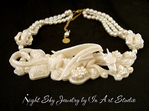 Dragon Necklace - Pearl Dragon Jewelry