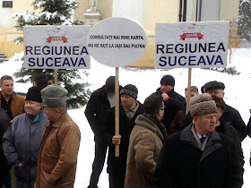 Miting pentru susţinerea înfiinţării regiunii cu capitala la Suceava - UNPR