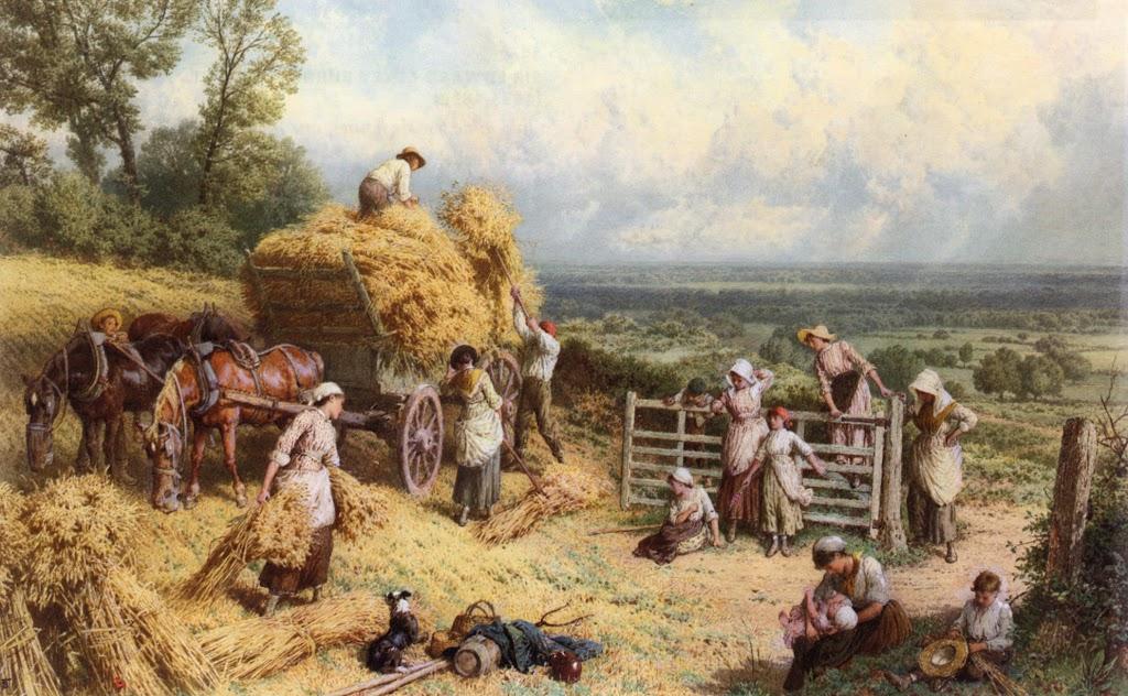 Myles Birket Foster - Harvest Time