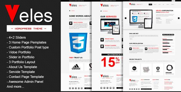 Themeforest  VELES - Premium WordPress Theme v1.0  PSD + Docs - Full