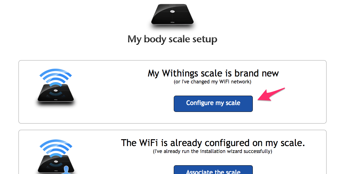 configure my scale