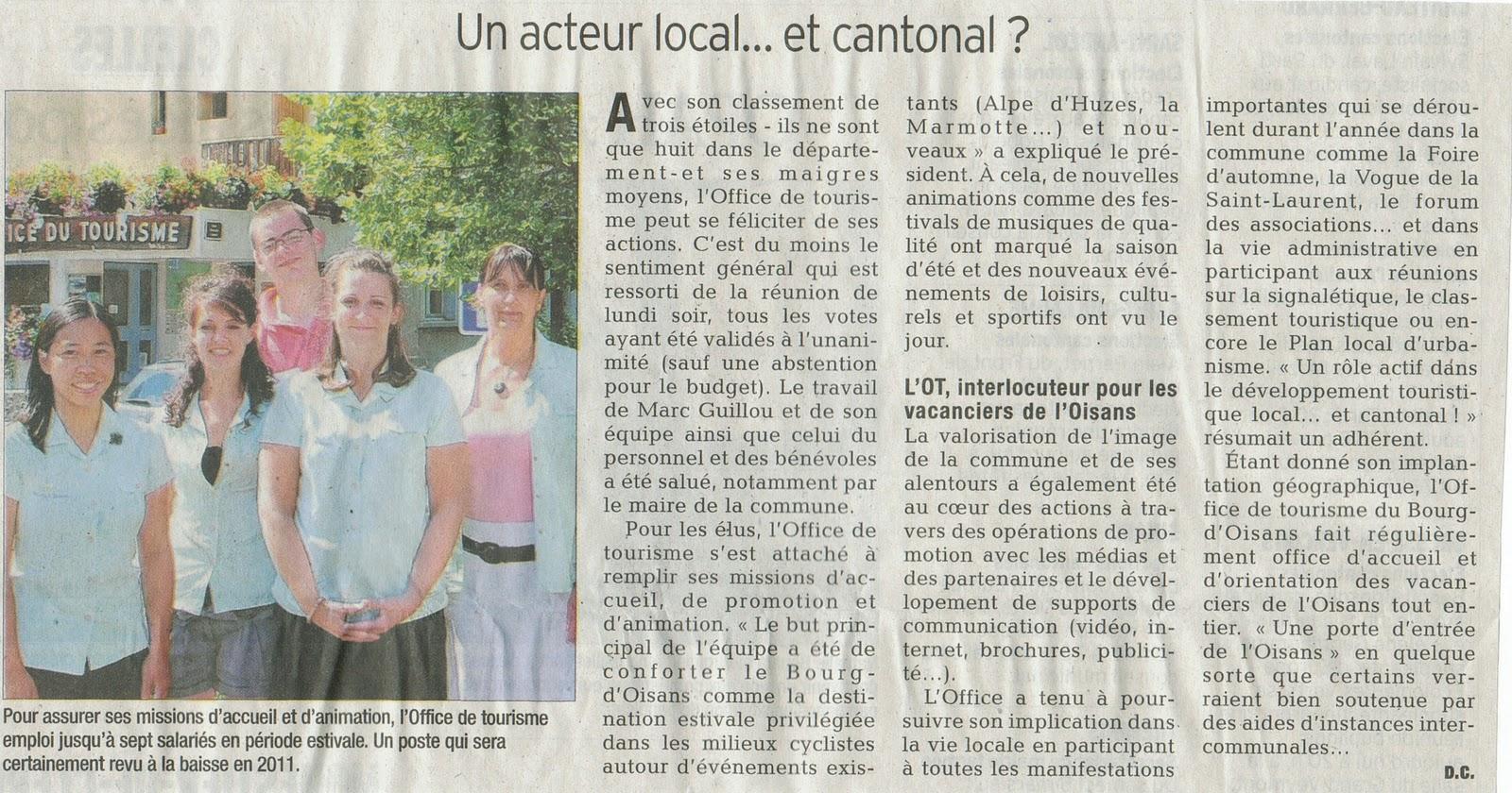 News de l 39 office de tourisme bourg d 39 oisans assemblee - Le bourg d oisans office de tourisme ...
