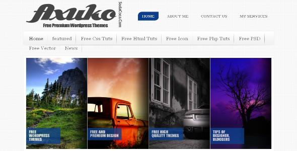 Axuka Free Wordpress Portfolio and Business Theme