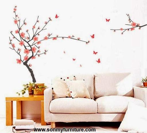 Trang trí nhà đón Tết với giấy dán tường mùa xuân-6