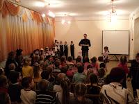 Выступление ребят в детском саду №3.Защита птиц.