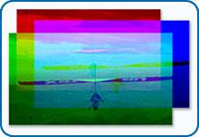 Формирование цветного изображения из красного, зеленого и синего цветов