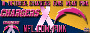 San Diego Chargers Breast Cancer Awareness Pink Facebook Cover Photo