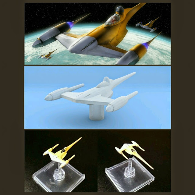 caza estelar N-1 de Mel Miniatures