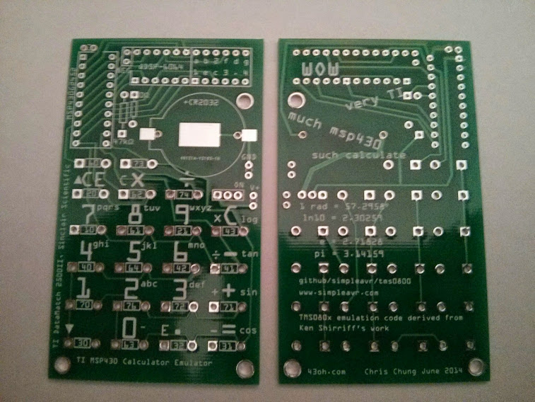 V2 PCB front and back