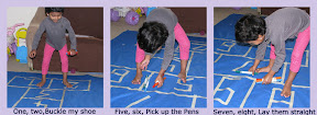 Make your own Hopscotch mat