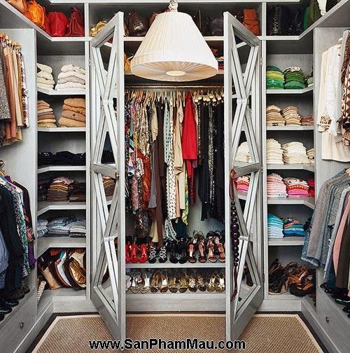 Thiết kế tủ quần áo: Một số thủ thuật giúp tăng diện tích để quần áo-6