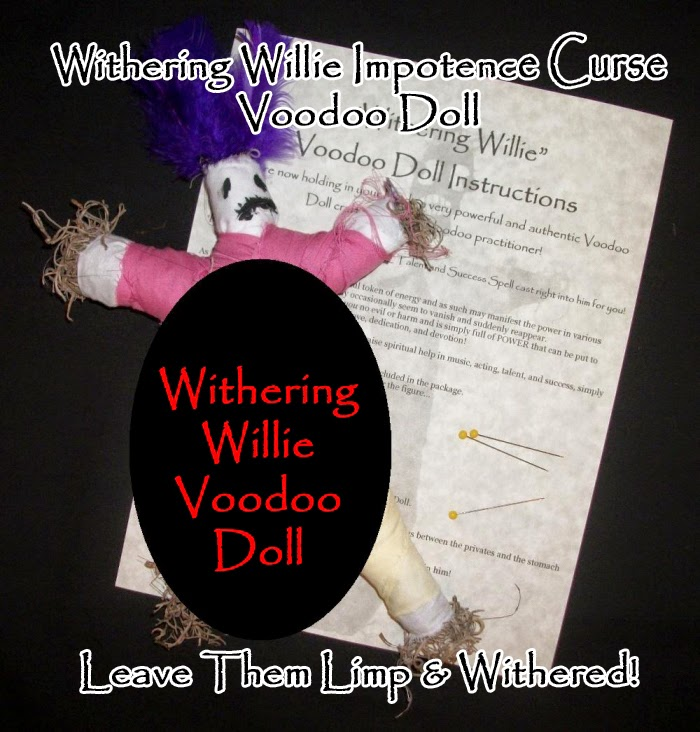 Details about Withering Willie Cheating Lover Penis Impotence Voodoo Doll  Curse Kit Divorce