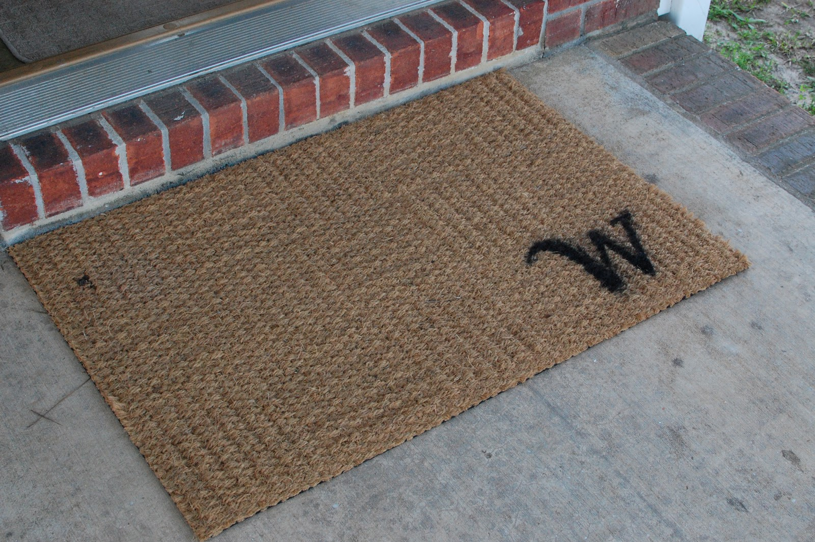 made welcome inspirations doormat doors front mat cool custom monogram melbourne for door mats outside monogrammed home