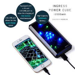 iPhone 6 External Battery - [Ingress First Official] cheero Ingress Power Cube 12000mAh - Your Best Ingress Partner - image