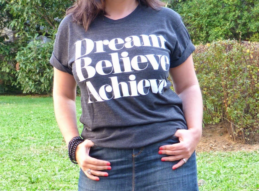 Tee-shirt Dream Believe Achieve