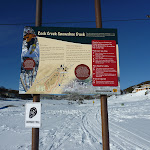 Rock Creek Snowshoe track information sign (299647)